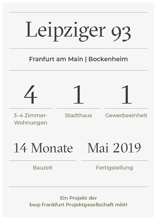 Projekt Factsheet Leipziger 93 - bwp frankfurt